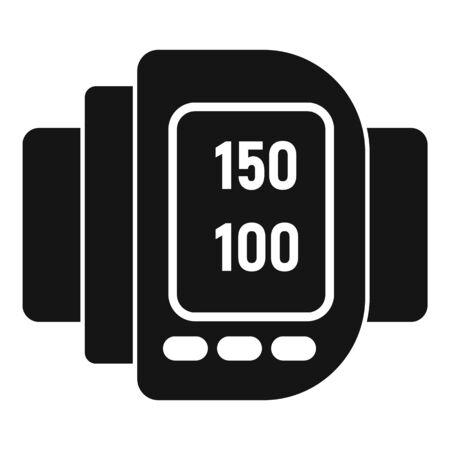 Human digital arterial pressure icon, simple style