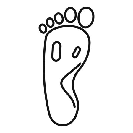 Blood foot pain icon, outline style