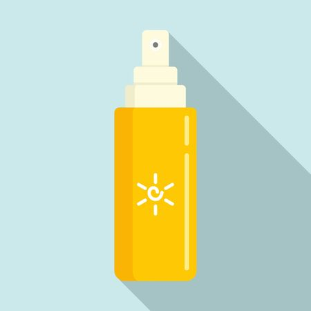 Uv tube spray icon, flat style 일러스트