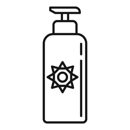 Uv protection lotion icon, outline style