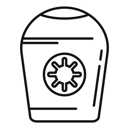 Antiseptic cream bottle icon, outline style