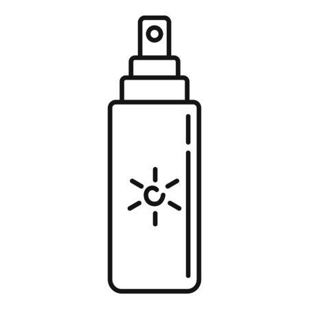 Uv tube spray icon, outline style 일러스트