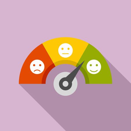 Smiling credit score icon. Flat illustration of smiling credit score vector icon for web design
