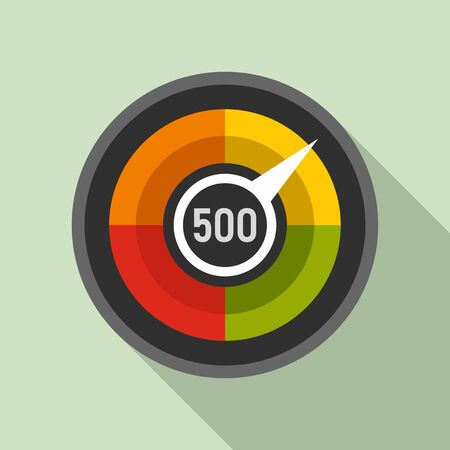 Customer credit score icon. Flat illustration of customer credit score vector icon for web design