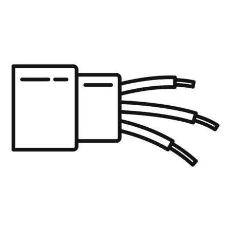 Optic cable icon, outline style Illustration