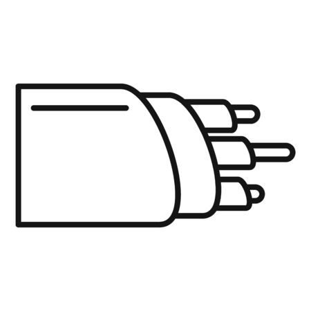 Network optic cable icon, outline style