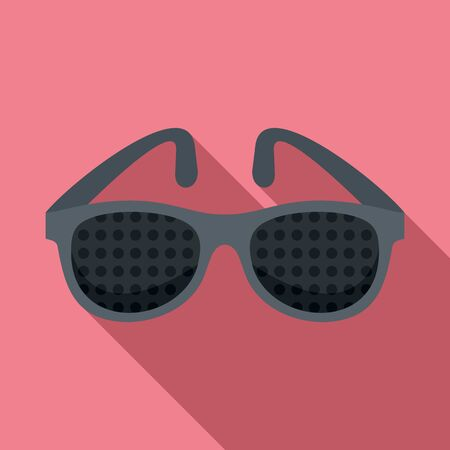 Examination control eyeglasses icon, flat style
