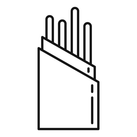 Wire optical fiber icon, outline style