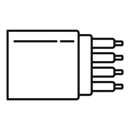 Bandwidth optical fiber icon, outline style