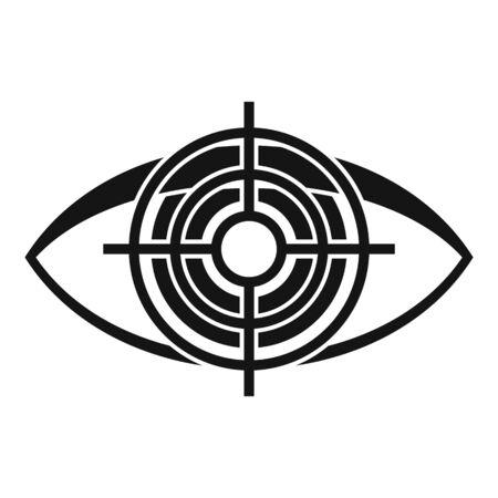Target eye examination icon. Simple illustration of target eye examination vector icon for web design isolated on white background