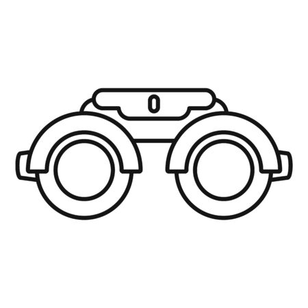 Eye examination steel glasses icon. Outline eye examination steel glasses vector icon for web design isolated on white background