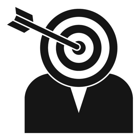Headhunter target icon, simple style