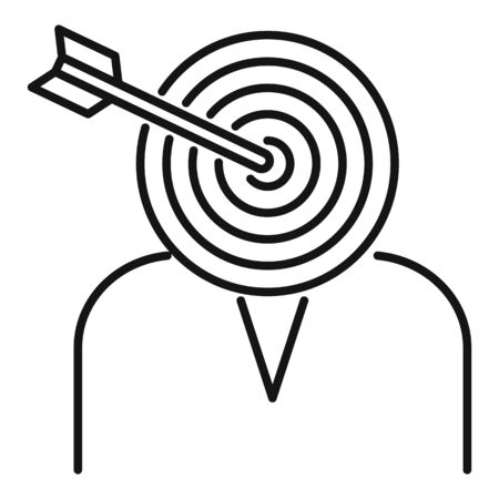 Headhunter target icon, outline style
