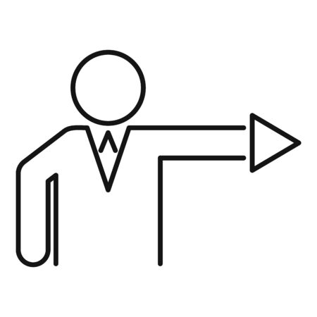 Business corporate direction icon, outline style