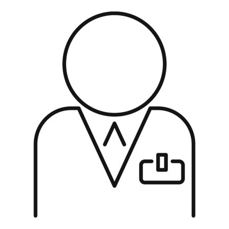 Professional manager icon, outline style