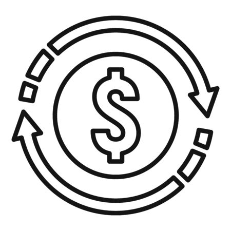 Convert money icon, outline style