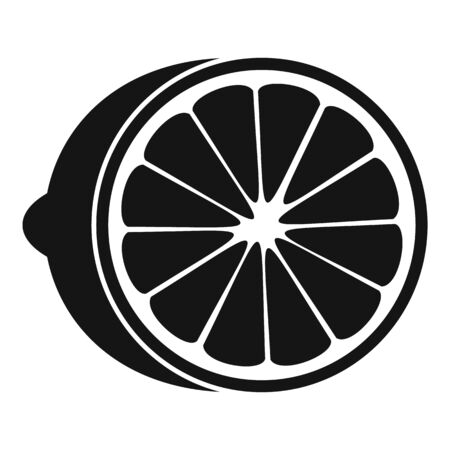 Cutted fresh lime icon, simple style