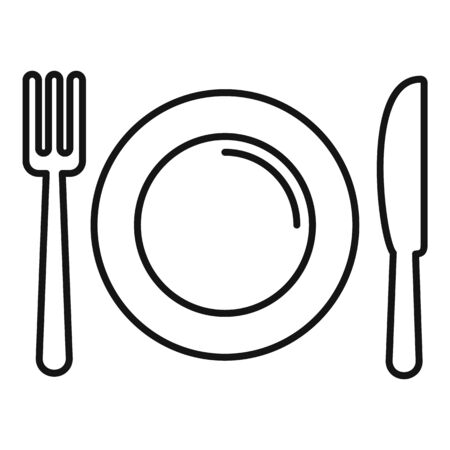 Cookware icon, outline style