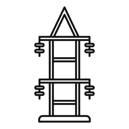 Electric tower icon, outline style