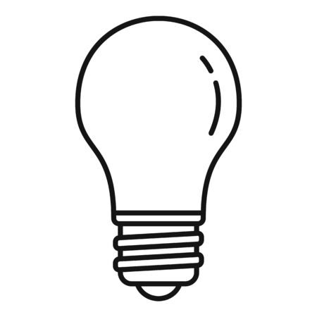 Classic light bulb icon, outline style 向量圖像