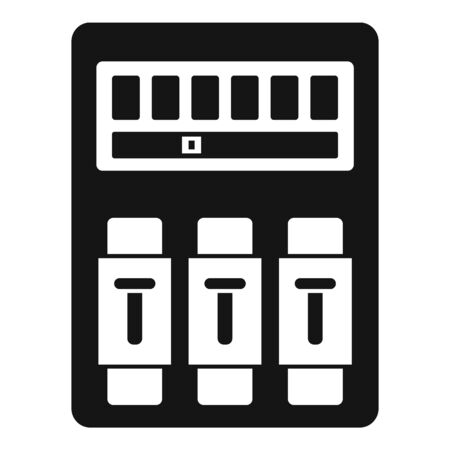 Switch electrical device icon, simple style Çizim