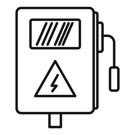 Electric box icon, outline style
