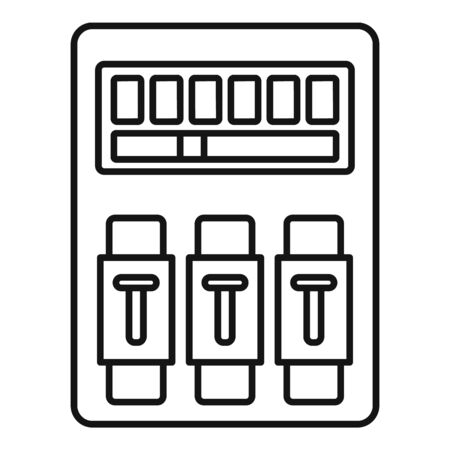 Switch electrical device icon, outline style