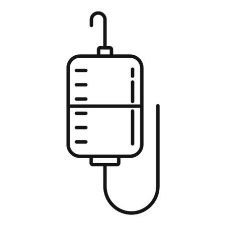 Hospital dropper bag icon, outline style