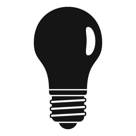 Classic light bulb icon, simple style Vecteurs