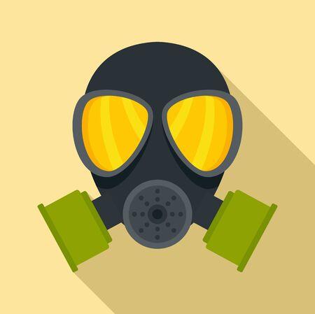 Chemical mask icon, flat style
