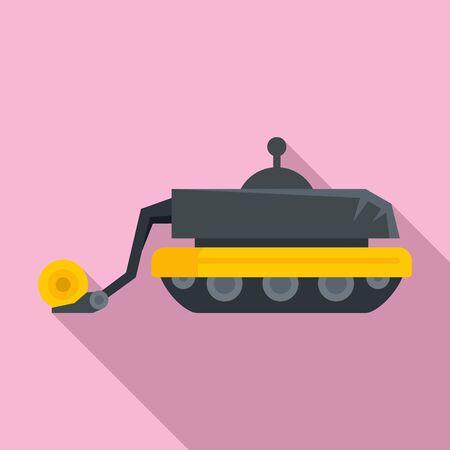 Smart agricultural robot icon. Flat illustration of smart agricultural robot vector icon for web design