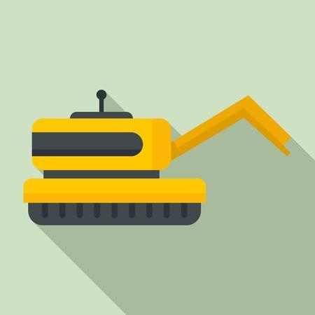 Farm robot icon. Flat illustration of farm robot vector icon for web design Illustration