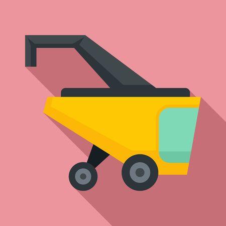 Smart harvester icon. Flat illustration of smart harvester vector icon for web design Illustration