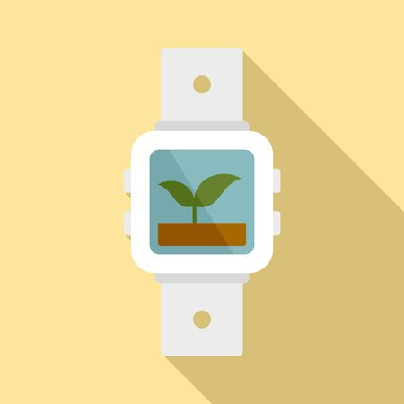 Agriculture watch icon. Flat illustration of agriculture watch vector icon for web design Illustration