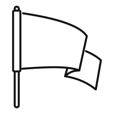 Peace flag icon, outline style