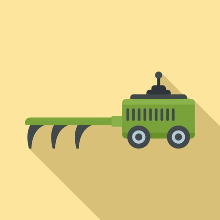 Agricultural cultivator icon, flat style Illustration