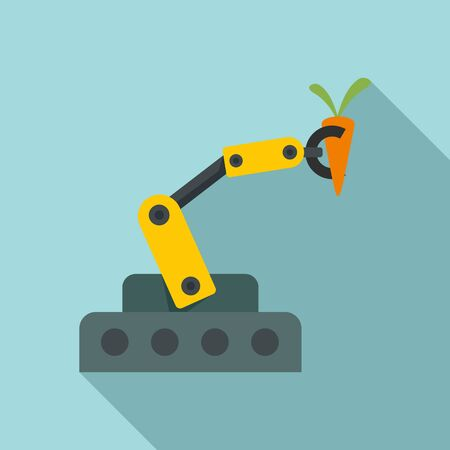 Farm robotic arm icon, flat style