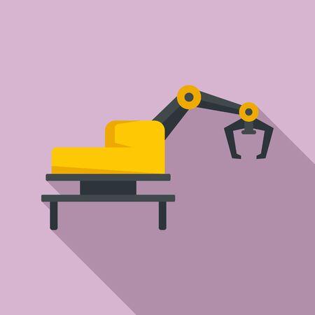 Agritech machine icon, flat style