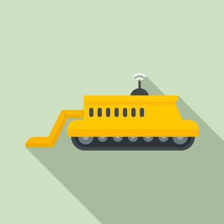 Smart farm machinery icon, flat style