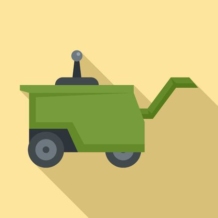 Family farm machine icon, flat style Ilustrace