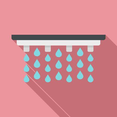 Irrigation system icon, flat style