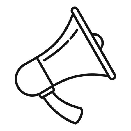 Handly megaphone icon, outline style