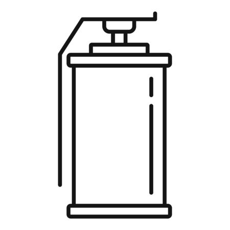 Smoke grenade icon, outline style