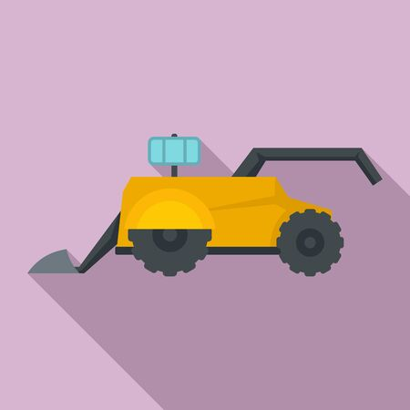 Agriculture robot icon, flat style Illustration
