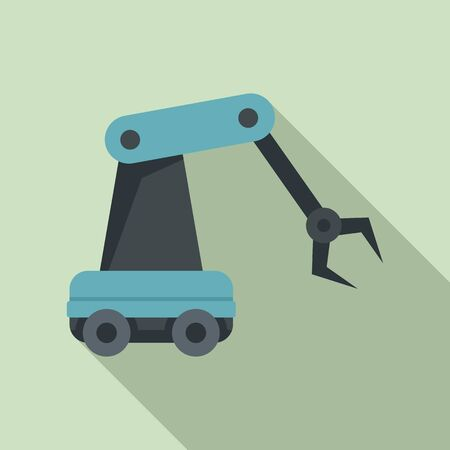 Robotic arm icon. Flat illustration of robotic arm vector icon for web design Illustration