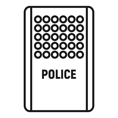 Police shield icon. Outline police shield vector icon for web design isolated on white background Illustration