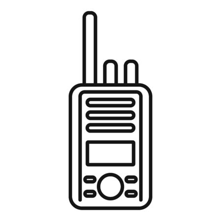 Walkie talkie icon. Outline walkie talkie vector icon for web design isolated on white background Illustration