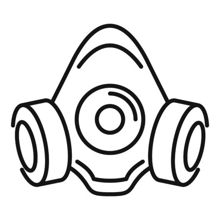 Gas mask icon. Outline gas mask vector icon for web design isolated on white background Illustration
