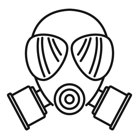 Chemical mask icon. Outline chemical mask vector icon for web design isolated on white background Illustration