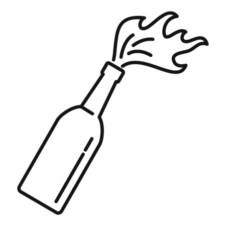 Molotov cocktail icon. Outline molotov cocktail vector icon for web design isolated on white background  イラスト・ベクター素材